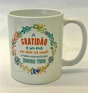 Xícara de porcelana Gratidão 300ml