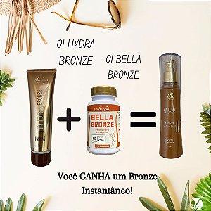 Kit verão promocional - 01 Hydra Bronze 150ml + 01 Bella Bronze 60 cápsulas GANHA 01 Bronze instantâneo 120ml