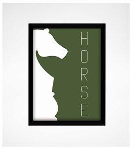 Quadro Decorativo Cavalo Xadrez