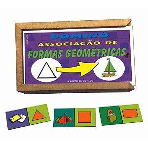 Dominó Associação de Formas Geométricas  (3anos ou+)
