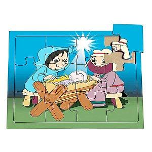 Quebra-Cabeça O Nascimento de Jesus  (3anos ou+)