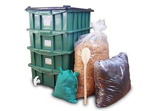 Composteira Minhocário Caseiro Tamanho P Plus (P+)