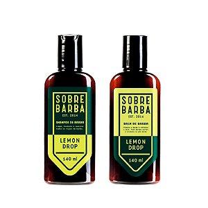 Dupla Lemon Drop Shampoo e Balm para Barba Sobrebarba