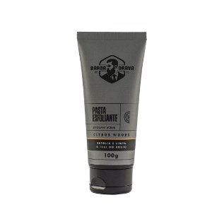 Pasta de Limpeza Esfoliante para Barba e Rosto Barba Brava Citrus Woods