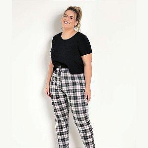 Pijama Xadrez Plus Size