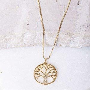 Colar Árvore Da Vida Banho Ouro
