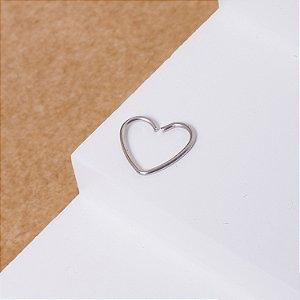 Piercing Aço Inox Coração