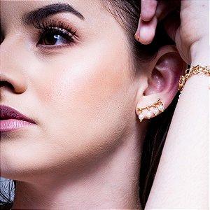 Ear Cuff de Pérolas Banho Ouro