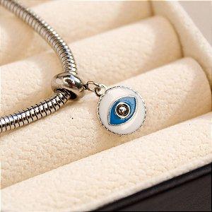 Berloque Olho Grego Aço
