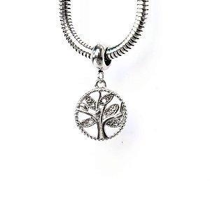 Berloque Árvore da Vida Zircônia Aço