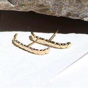 Ear Hook Corações Banho Ouro