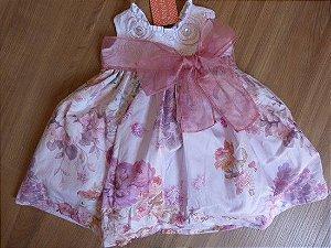 Vestido Infantil Faixa Gazar Kopela