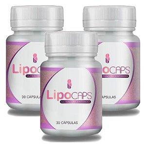 LipoCaps 30 Cáps - 3 potes LipoCaps