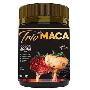 Trio Maca 100g - Maca Amarela, Vermelha e Black 100g - Color Andina