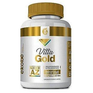 Vitta Gold 60 cápsulas - Vitamínico de A à Z