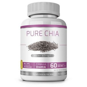 Pure Chia 60 cáps - Óleo de Chia