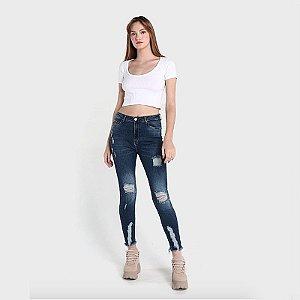 Calça Jeans Skinny Escuro