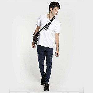 Calça Jeans Escura Bolsos