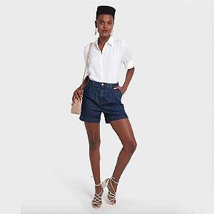 Shorts Jeans Pregas Escuro