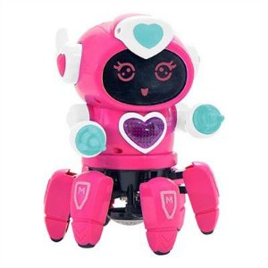 Robo Lady Dancante com Face Digital Som e Luz