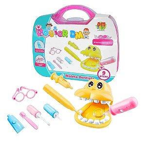 Maletinha Dentista Doutor Infantil C/ Acessorios Kit 9 Pecas