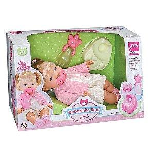 Boneca Bebe Bebezinho Real Faz Xixi  - Menina Roma