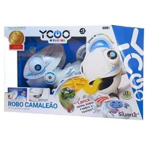 Robo Camaleao Robo Controle Remoto com Luz Led Colorida Dtc