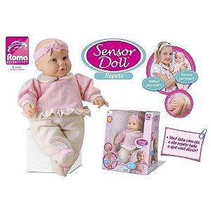 Boneca Com Mecanismo Sensor Doll Repete 42Cm. Roma