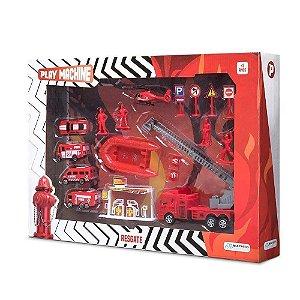 PLAY MACHINE PLAY SET BOMBEIRO DE RESGAT