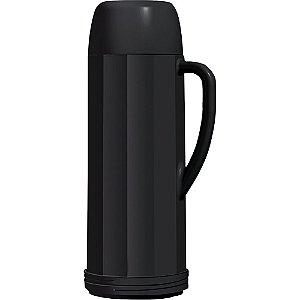 Garrafa Termica Invicta Eureka 1 Litro Preta Cafe Cha Agua