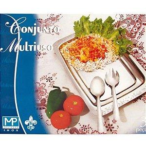 Conjunto Multiuso Inox 3 Pecas Mp Phanteon