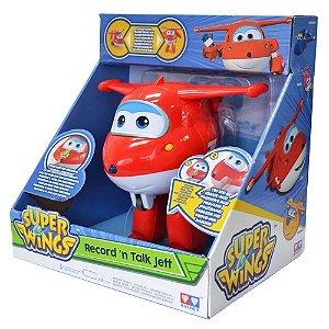 Boneco Super Wings Jett Grava E Fala 8241-6 Fun Divirta-se