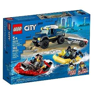 Lego Cidade 60272 City Transporte De Barco Policia Elite