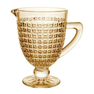 Jarra Chevalier em vidro com pe 1L cor ambar luster