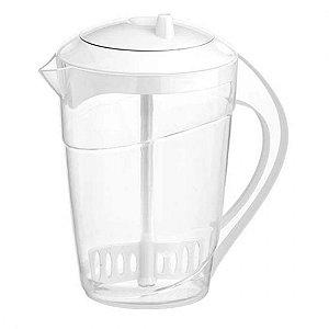 Jarra Mix 2 Litros Branca Plastica Com Misturador - Panamby