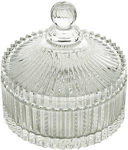 Potiche Decorativo Cristal De Chumbo Carousel 10,5x13,5 Cm
