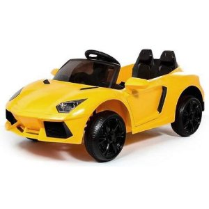 Carrinho Motor Eletrico Infantil Bateria Esportivo Amarelo