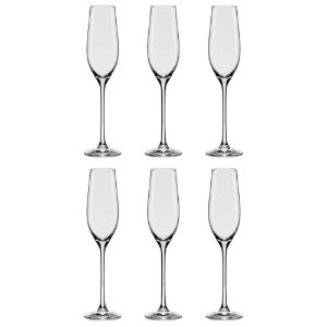 Conjunto Com 06 Tacas De Cristal Espumante 210ml Oxford