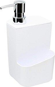 Dispenser Para Detergente Liquido Com Esponja 650ml Branco