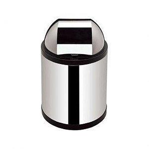 Lixeira cesto inox tampa retratil cozinha/escritorio 2,5L