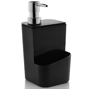 Dispenser Detergente Esponja Sabao Liquido 650ml Preto Ou
