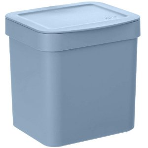 Lixeira Para Pia De Cozinha 2,5L Lixeira Compacta De Plastico Azul Glacial