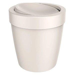 Lixeira 5 Litros Tampa Basculante Cesto De Lixo Banheiro Vitra Ou