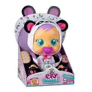 Boneca Crybabies Pandy Com Chupeta - Multikids