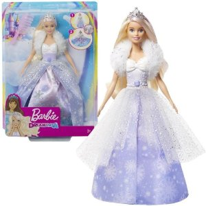 Boneca Barbie Fantasia Princesa Vestido Magico Mattel Gkh26