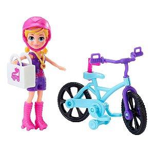 Polly Pocket Aventuras Sobre Rodas Polly E Bicicleta Gfp93