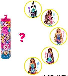 Boneca Barbie Color Reveal 7 Surpresas Festa de Confete