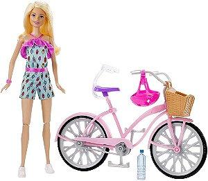 Boneca Barbie Veiculos Barbie E Bicicleta Original Mattel
