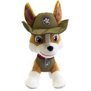 Boneco Patrulha Canina Pelucia Tracker 30 Cm - Sunny Brinquedos