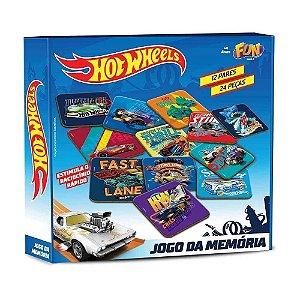 Hot wheels jogo da memoria 12 pares (24 pcs) cartonado - fun